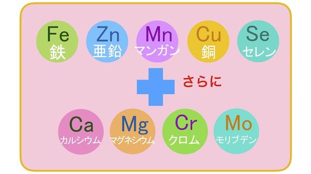 9種類のミネラル