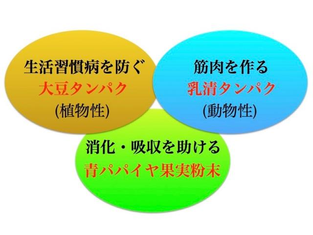 美らプロテイン3つの輪